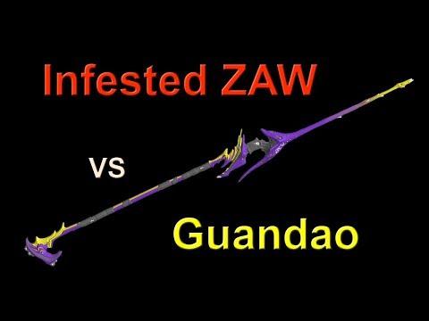 Warframe: Infested ZAW (Plague Star, Plains of Eidolon) vs Guandao