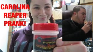 CAROLINA REAPER PEPPER IN BRYAN'S FOOD PRANK!