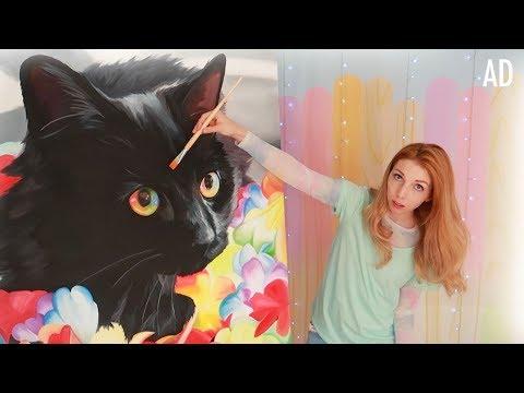 Painting a Giant Rainbow Cat thumbnail