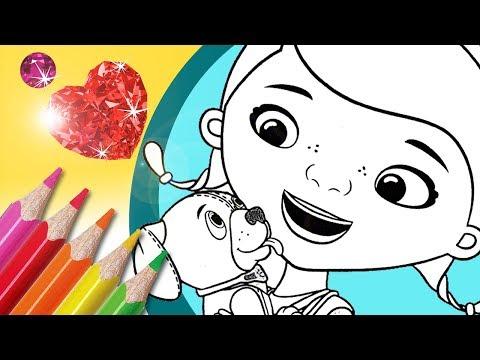 Coloring Doc McStuffins Pages | McStuffins Glitter Coloring