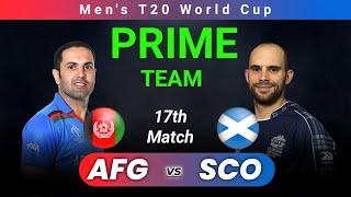 AFG vs SCO Dream11 Team Prediction Today Match|Afghanistan vs Scotland T20 World Cup|IND vs PAK Live