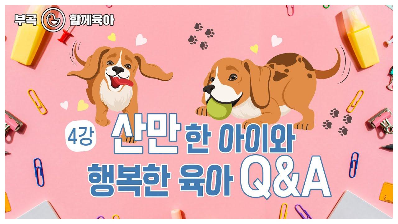 """[군포시 부곡도서관 - 함께육아] 손정아 #4 """"산만한 아이와 행복한 육아 Q&A"""""""