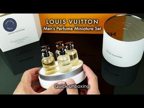 805c9baa5a83 Louis Vuitton Men s Perfume Cologne Fragrance Miniature Set (5) 2018 -  Quick Unboxing
