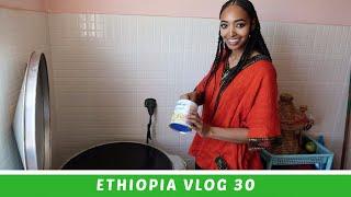 Ethiopia Vlog 30 Traditional Ethiopian Braids & Making Injera | Amena Teferi
