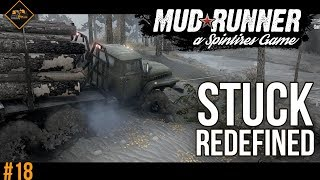 A whole new level of stuck in Spintires: Mudrunner Multiplayer Co-op gameplay #18