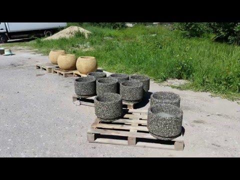 Бизнес идея - Вазон из натуральной каменной крошки - технологический процесс
