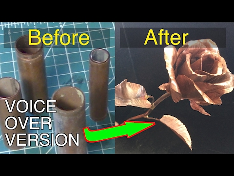 Making a copper rose - Voiceover version.  FarmCraft101