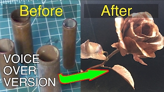 Making a copper rose - Voiceover version.  FarmCraft101