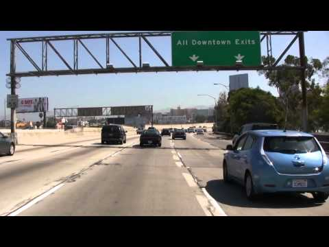 Interstate 110 (California) 105 Freeway Los Angeles, CA ( HD ) Fine View Be a passenger in my car
