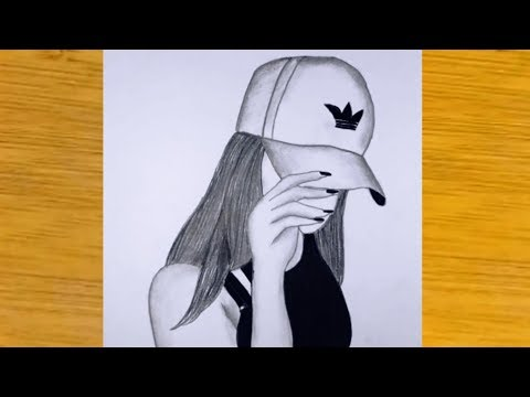 How To Draw A Girl With Hat Very Creative Pencil Sketch