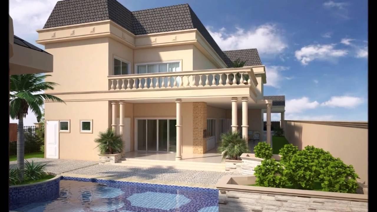 Projeto casa cl ssica sobrado 600m2 estilo americano for Casa moderna 2 andares 3 quartos