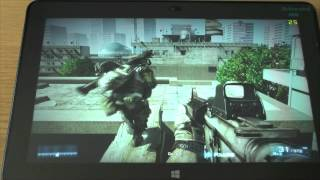 1# Battlefield 3 (BF3) (PC) test on tablet Intel Core M-5Y71 new Dell Venue 11 Pro 7140
