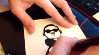 Gangnam style drawing time lapse