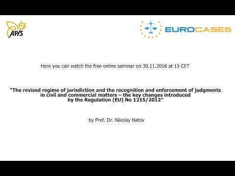 Recording of a seminar on private international law (30.11.2016)