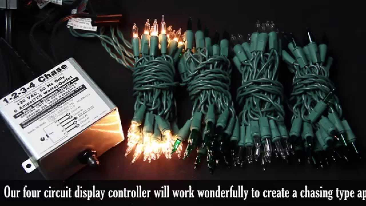 4 Circuit Chasing Christmas Light Controller Demonstration - YouTube