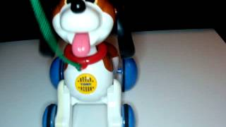 TOMY PULL ALONG PUPPY DOG TOY Walk with me BARKS AND WIMPERS PANT