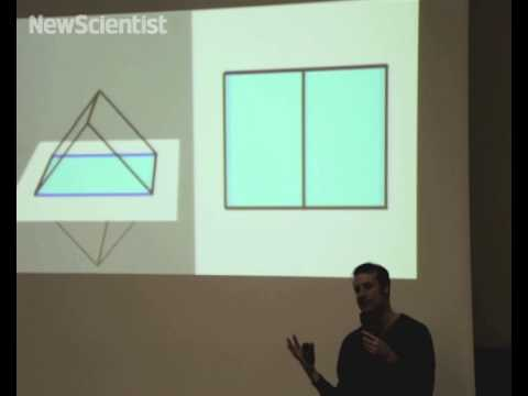 Maths stand-up comedy shows 4D cube crash