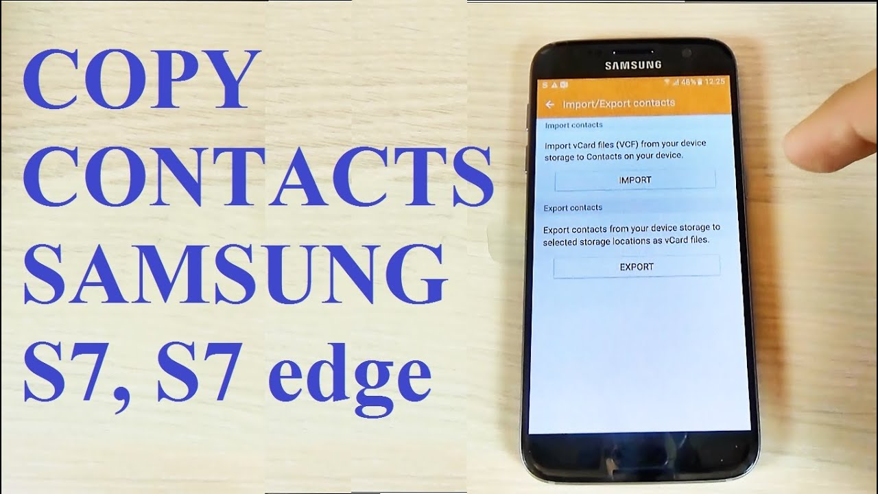 comment mettre ses contacts sur carte sim samsung Samsung Galaxy S7, S7 edge   How to Copy/Move/Transfer Contacts