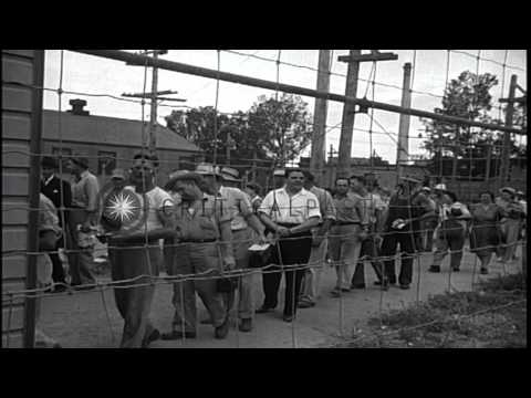 The Allies develop and prepare to use the Atomic Bomb on Japan due to its rejecti...HD Stock Footage