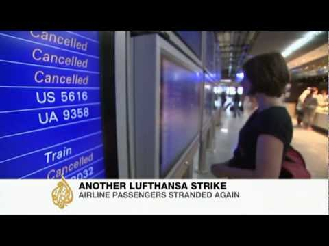 Lufthansa cabin crew strike strands thousands of travellers
