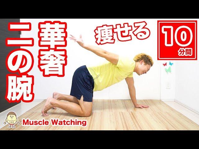 【10分】二の腕痩せ!女性らしい華奢な腕に!二の腕振り袖撃退! | Muscle Watching
