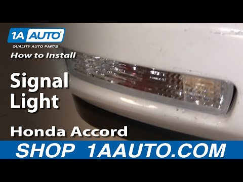 How To Install Replace front Signal Light Honda Accord 94-97 1AAuto.com