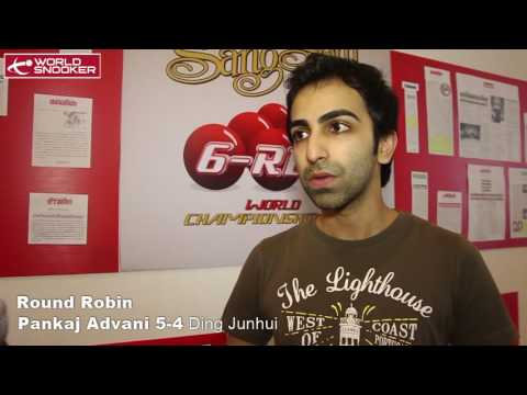 2016 Snooker 6-red Round Robin stage Pankaj Advani interview
