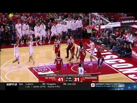 Highlights: NC State at Wisconsin | Big Ten Basketball | ACC/Big Ten Challenge