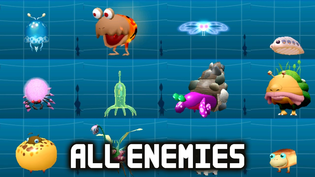 Hey Pikmin All Enemies Full Creature Log English Gameplay
