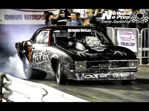 Reaper SS Camaro crashes vs The 55 at Edinburg Street Outlaws No Prep