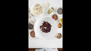 Chewy Vegan Granola Bar Recipe With Superfoods And Dried Fruit Blend