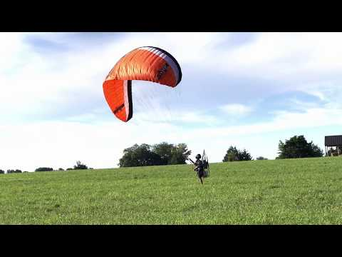 Paramotor Fun! Bad landing & future ppg pilot (9 years old)!