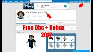 Roblox Free Obc + Robux 2017!! No Download! [Still Working on 2018!!!!!]