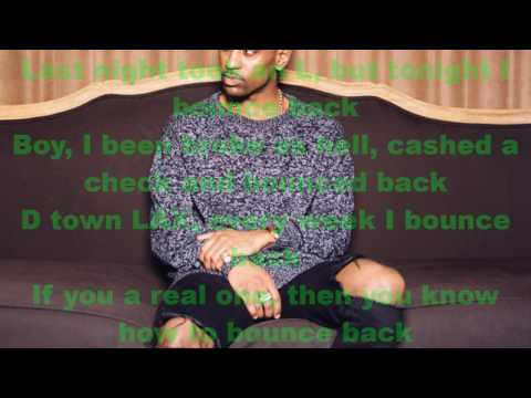 Big Sean -Bounce Back Lyrics