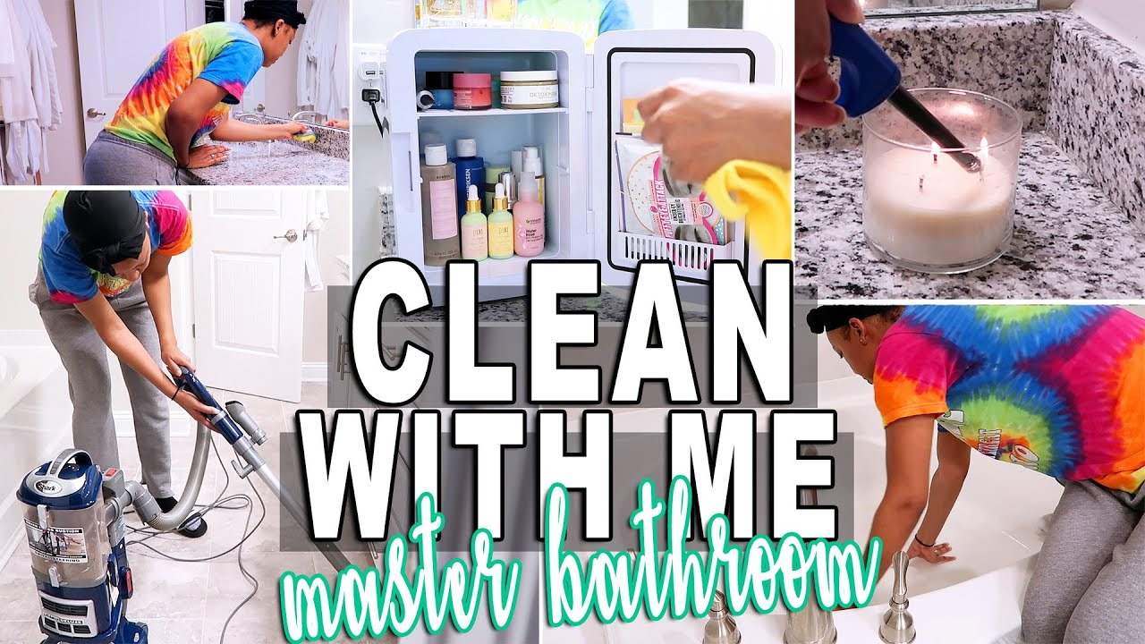 SPEED CLEAN WITH ME 2020 MASTER BATHROOM EDITION | INSTANT CLEANING MOTIVATION ♡ Fayy Lenee