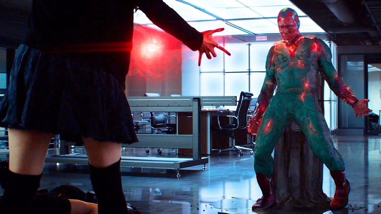 Download Wanda and Hawkeye vs Vision - Captain America: Civil War (2016) Movie CLIP HD