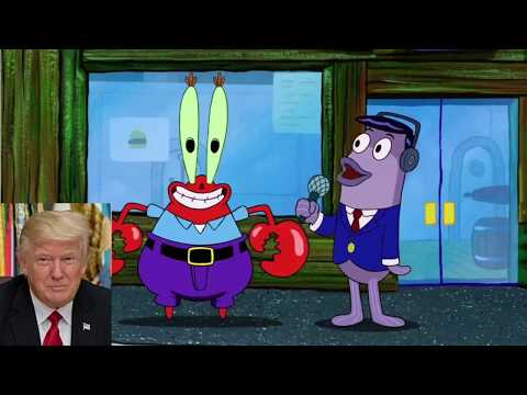 Presidents of the USA portrayed by SpongeBob