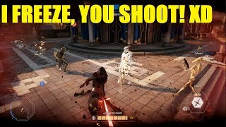 Star Wars Battlefront 2 - trying to take theed with Kylo Ren.. AND Vader and Palpatine