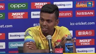 U19 skipper Nipun Dananjaya on ICC U19 Cricket World Cup Arrivals Press Conference