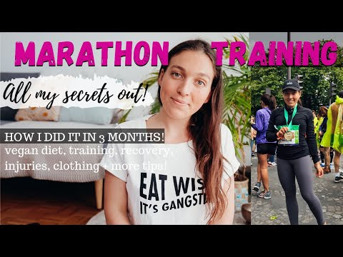 How I Prepped To RUN A MARATHON IN 3 MONTHS from scratch.