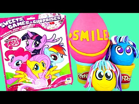 GIANT Blind Bag My Little Pony Games + Toys Play Doh Surprise Eggs Zelfs Huevos Juguete Sorpresa  