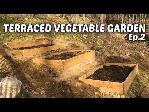 Terraced Vegetable Garden –  E.2 – Building Raised Beds & Topsoil