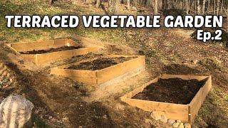 Terraced Vegetable Garden - E.2 - Building Raised Beds & Topsoil