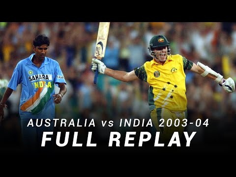 LIVE Flashback: Australia v India | Match 7, 2003-04 ODI Tri