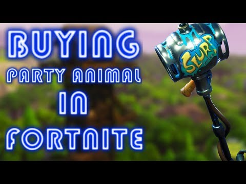 BUYING THE PARTY ANIMAL PICKAXE | Fortnite