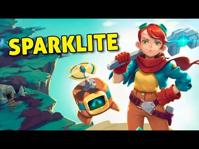 Uma inventora perdida na cidade aérea - Sparklite | Jogo Rápido - Gameplay PT-BR