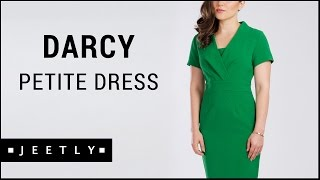 Petite Green pencil dress - Darcy Green pencil dress by Jeetly