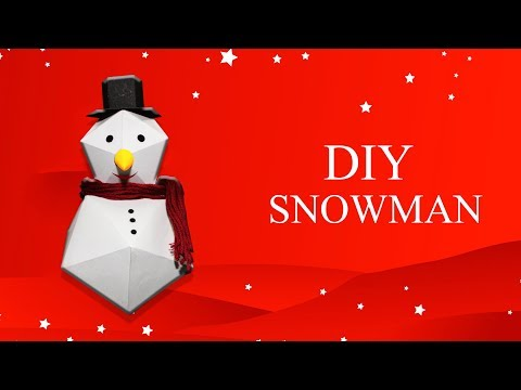 How to make Paper Snowman (DIY) - Origami