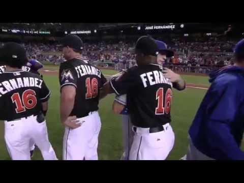 Miami Marlins Tribute to Jose Fernandez FULL