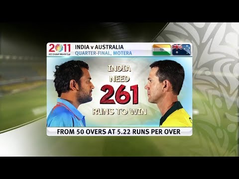 India Vs Australia 2011 World Cup Quarter Finals Highlights